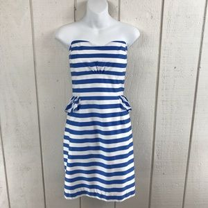 Lilly Pulitzer strapless striped dress size 12